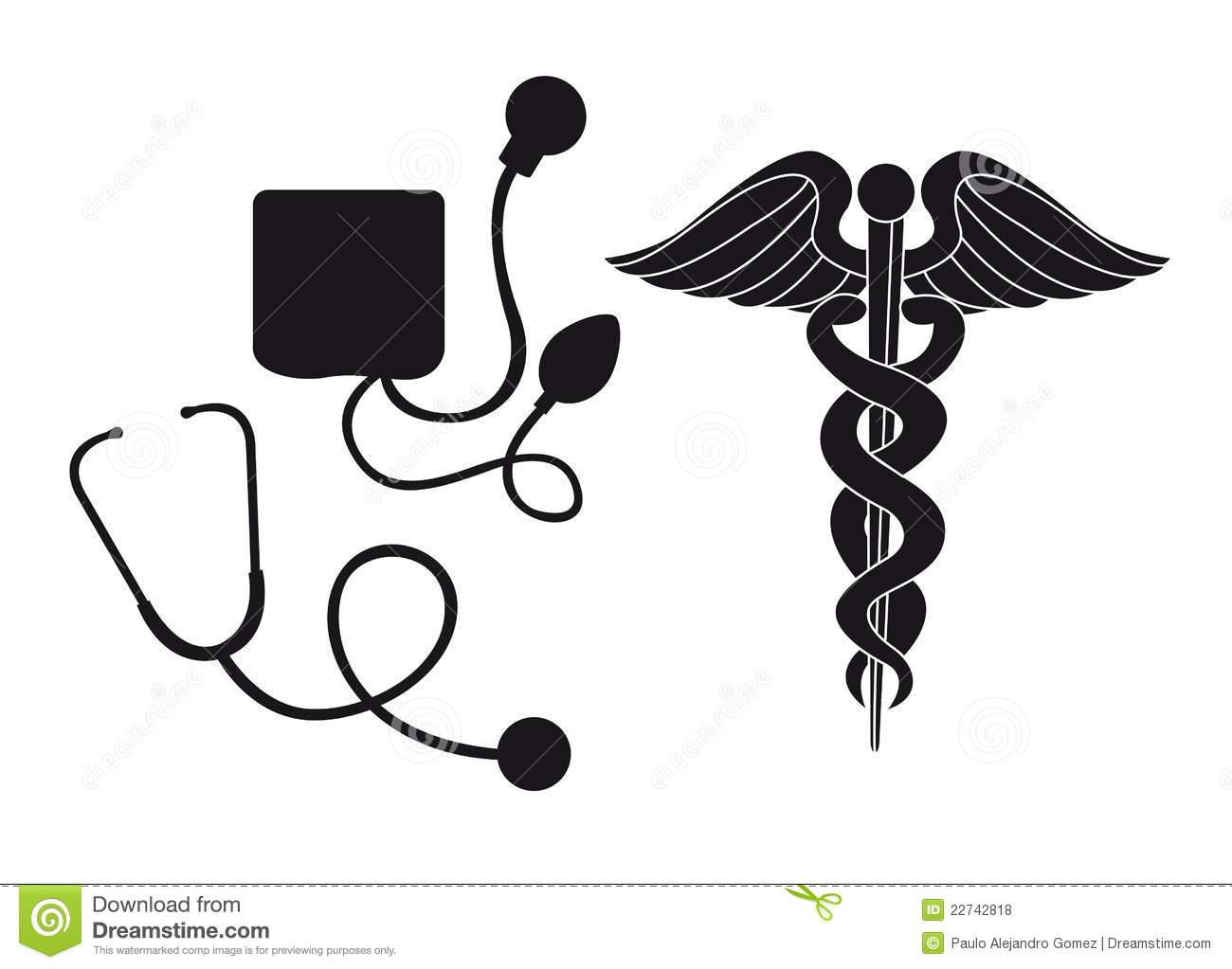 Silhouette Medical Sign Stock Vector Illustration Of