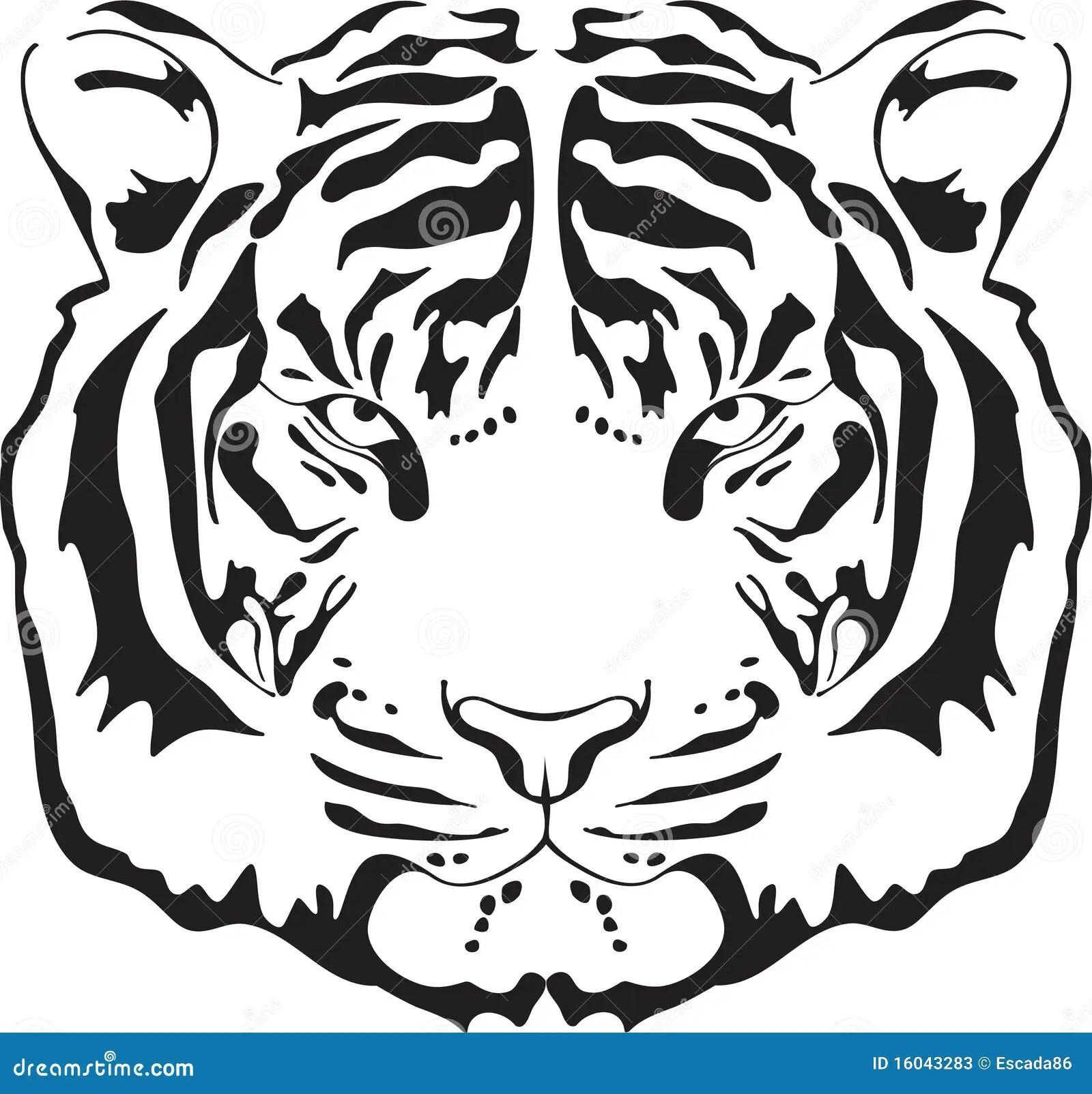 Silhouette Principale De Tigre Illustration De Vecteur