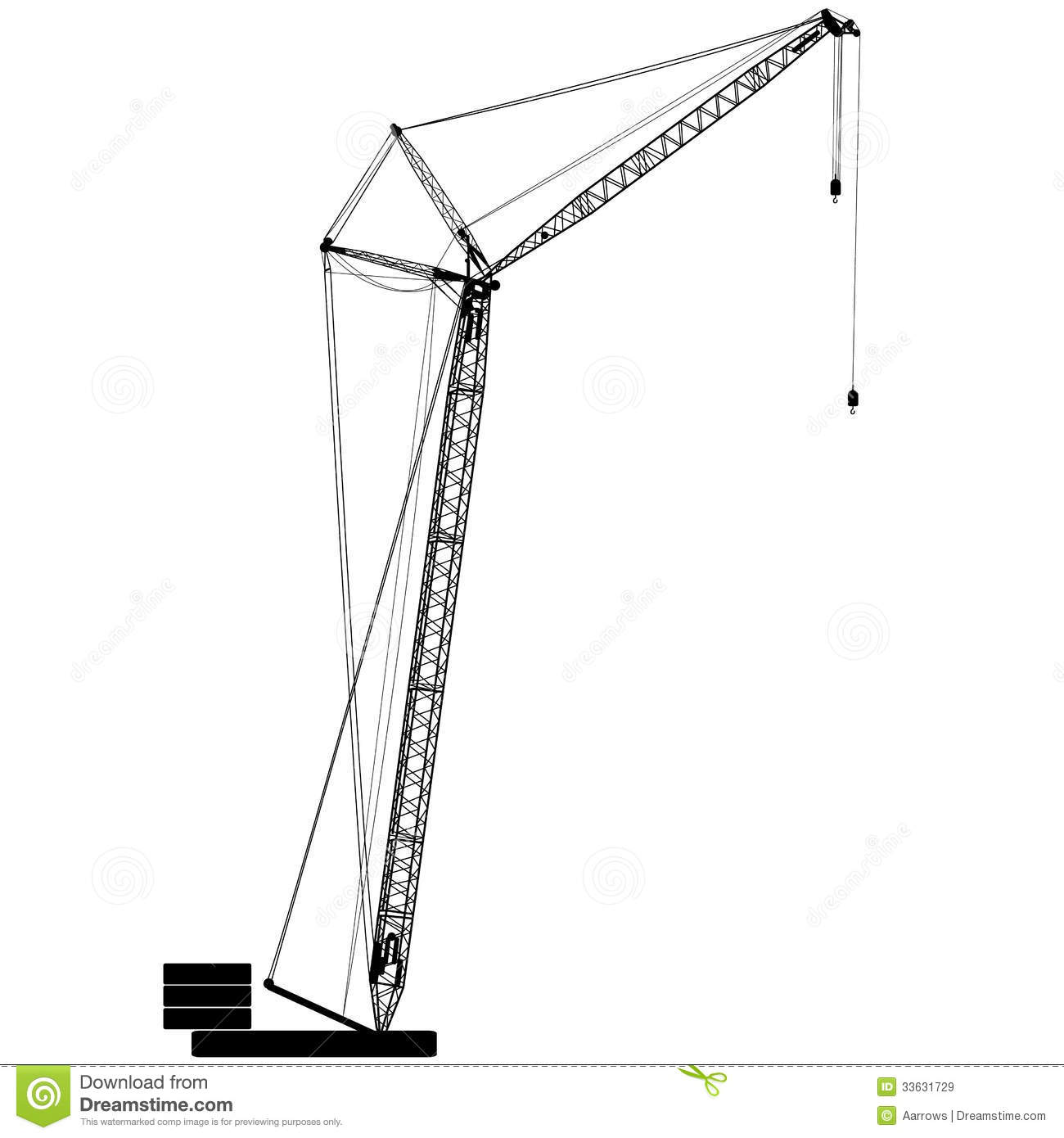 Silhouettes Of Crane Royalty Free Stock Images