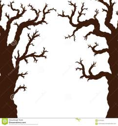 silhouettes of halloween trees bare spooky scary halloween tree [ 1300 x 1390 Pixel ]