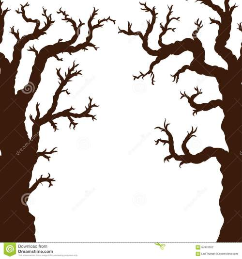 small resolution of silhouettes of halloween trees bare spooky scary halloween tree