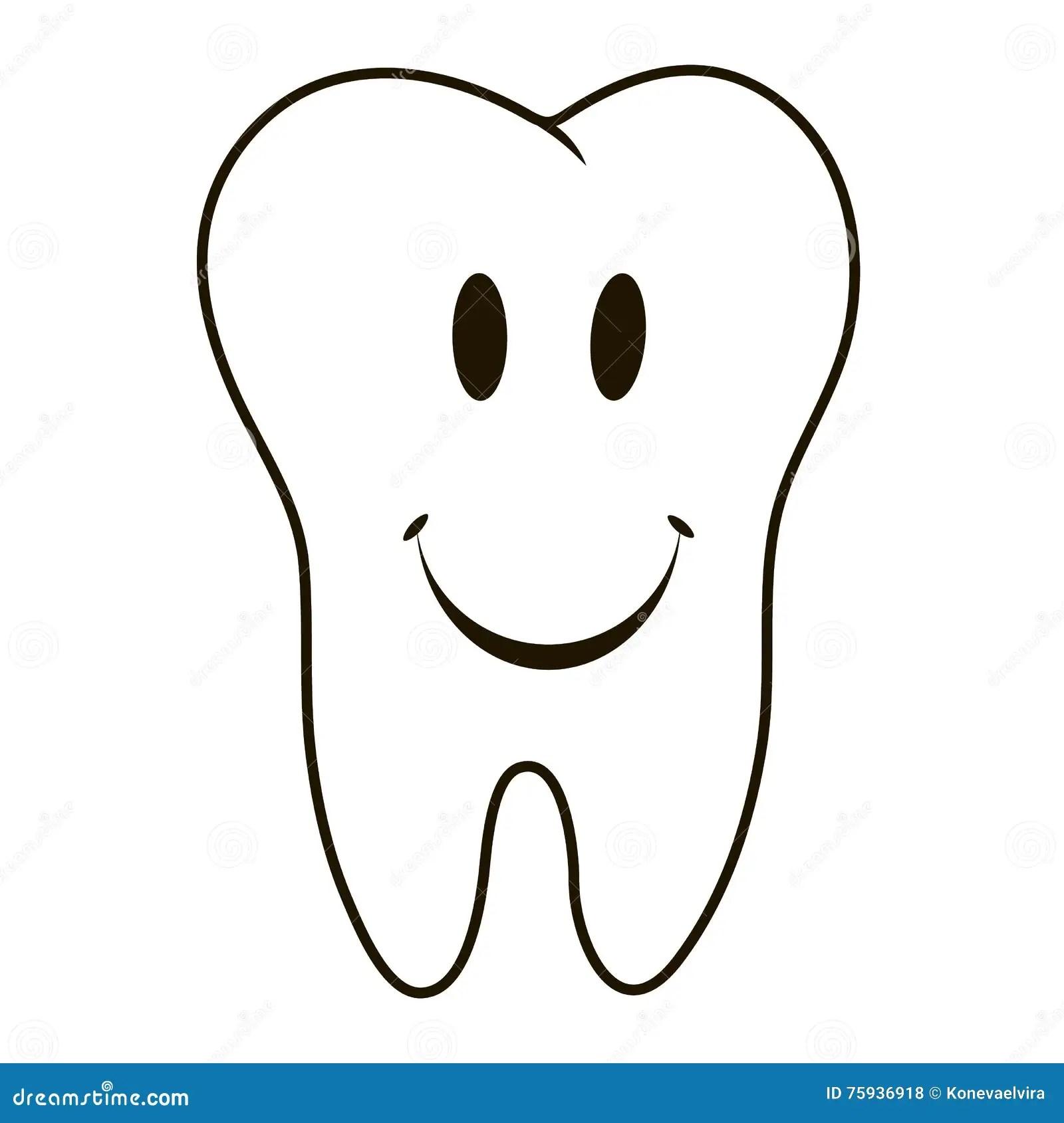 Silhueta Branca De Sorriso Em Um Fundo Azul, Dentes Do