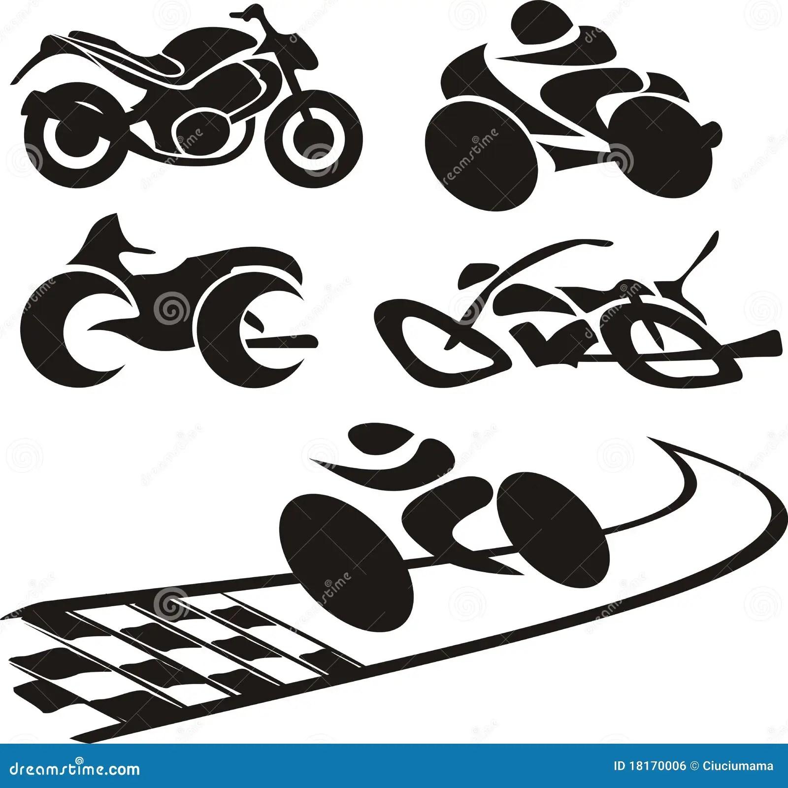 Silhueta Da Motocicleta