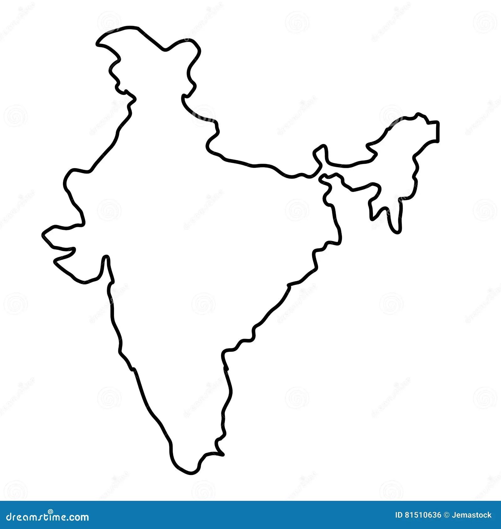 Silueta Del Mapa De La India Ilustracion Del Vector