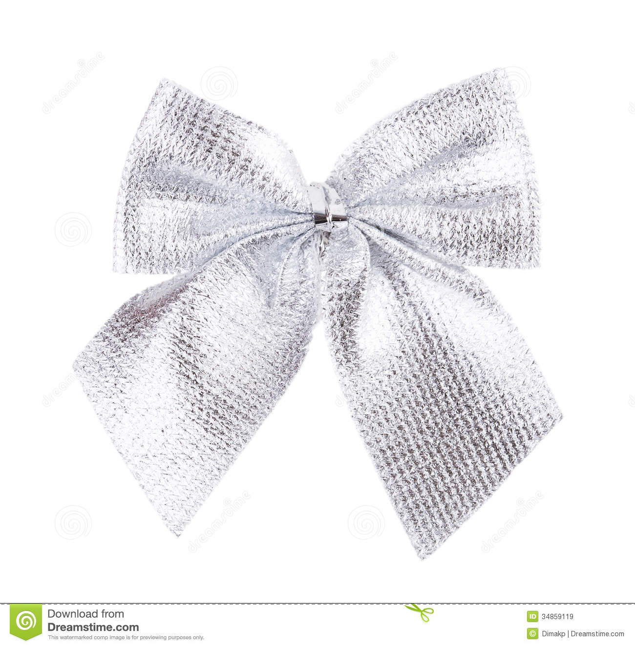 Silver Bow Ribbon Stock Image Image Of Color Celebration