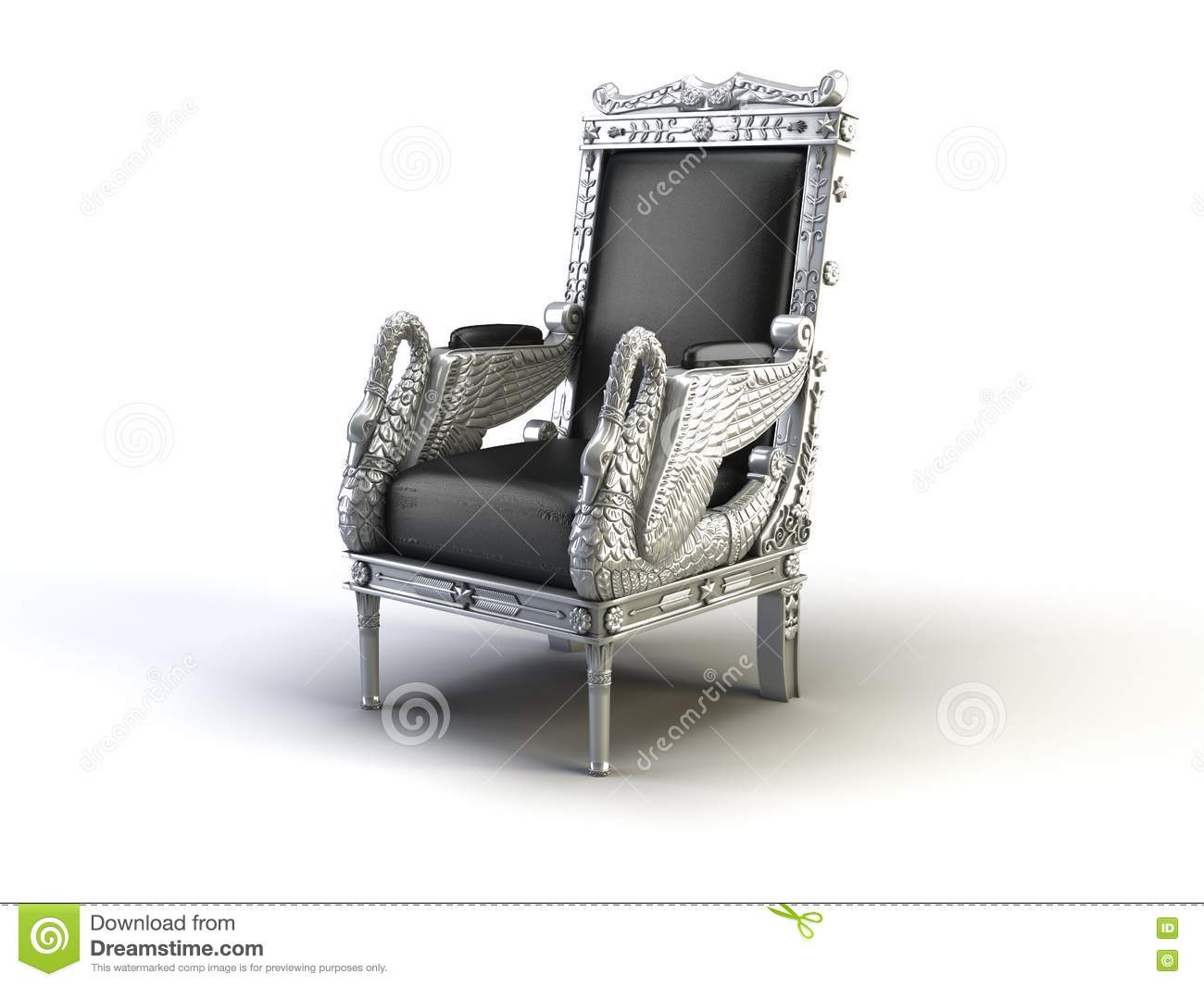 Silver Chair Silver Chair Stock Images Image 10135024