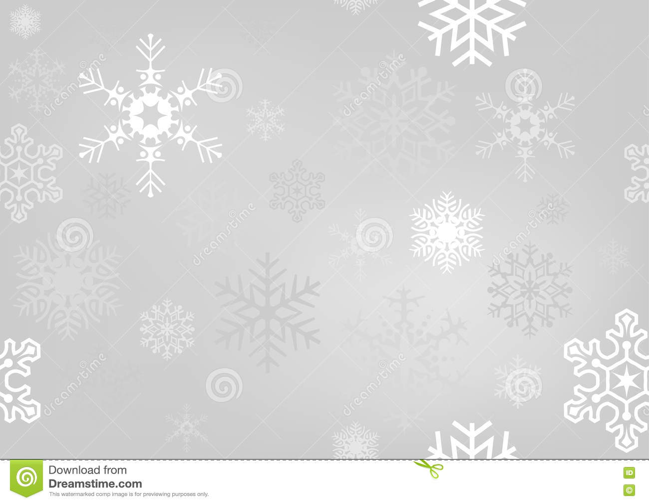Christmas Wallpaper Snow Falling Silver Christmas Paper With Snowflakes Stock Vector