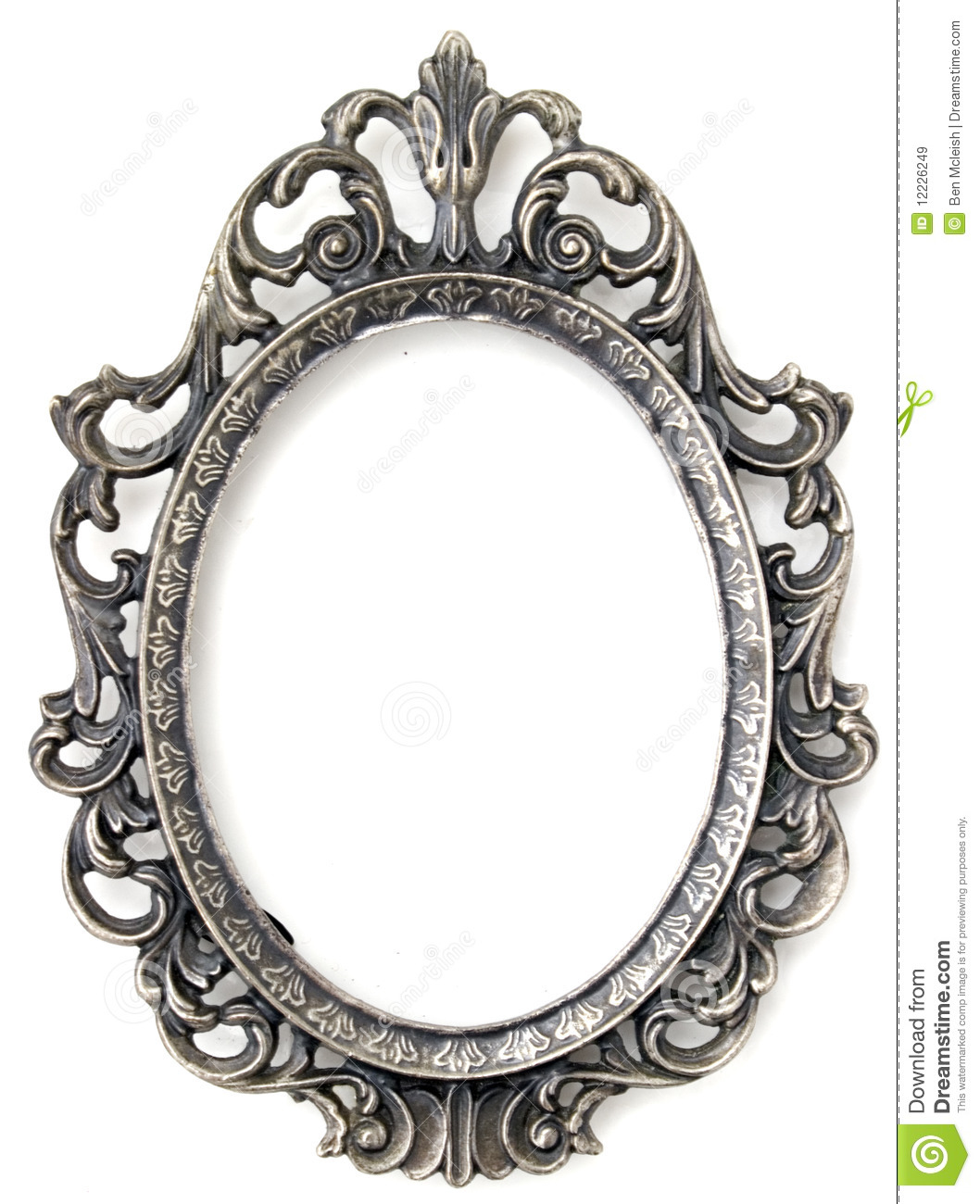 Silver Floral Frame Stock Image Image Of Detail Photo