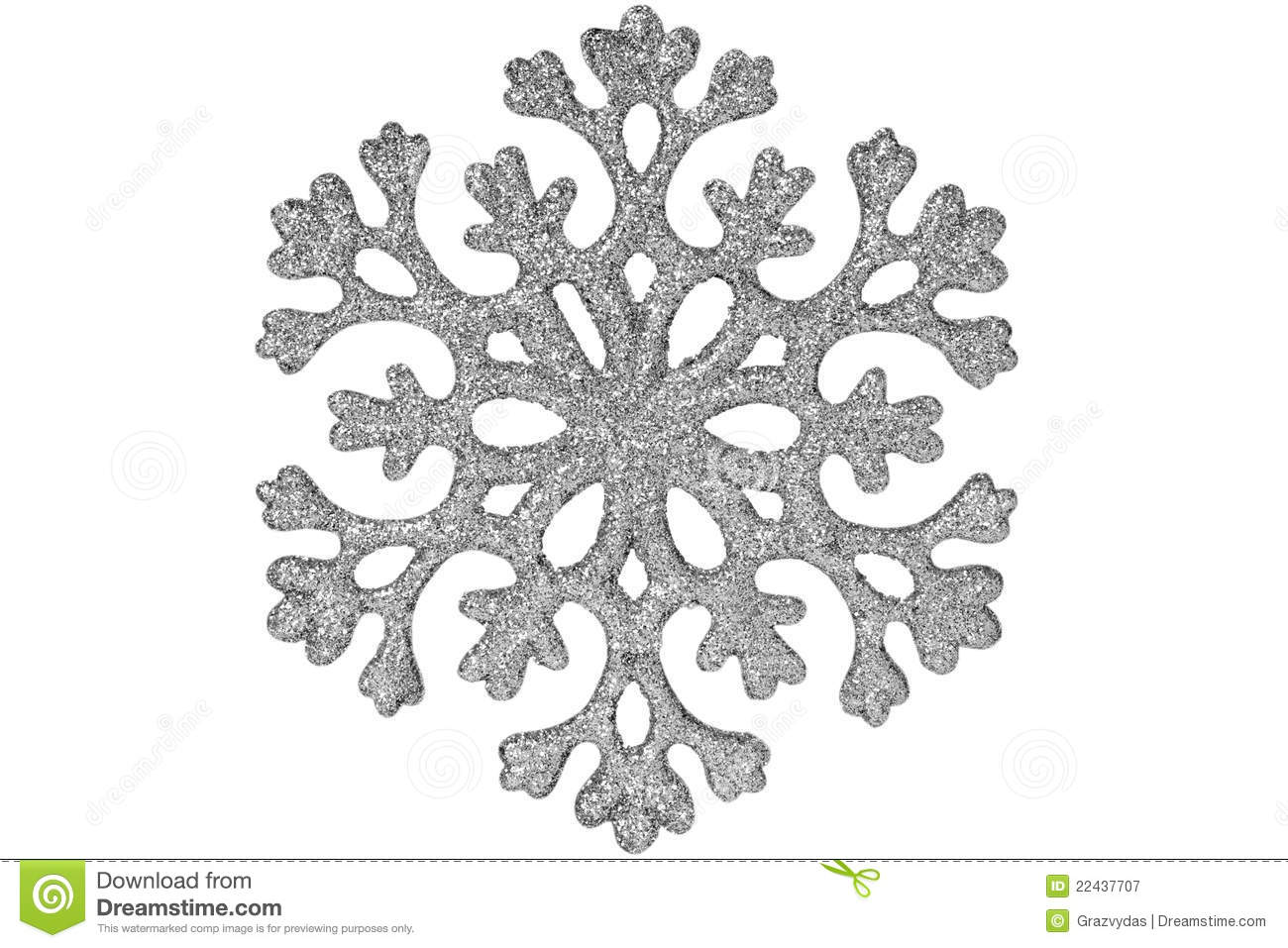 Silver Shiny Snowflake Stock Image Image Of Shape