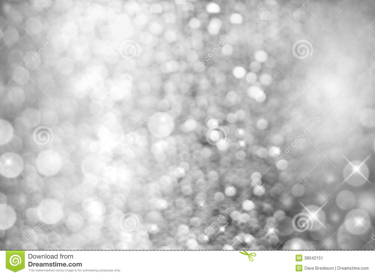 Silver White Light Abstract Christmas Background Stock