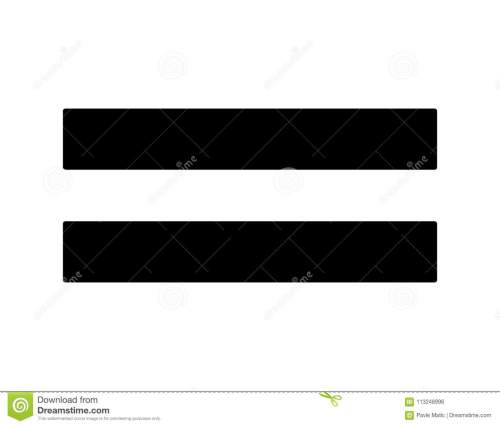 small resolution of a simple black equality sign used in maths done as a minimal graphic