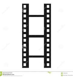 a simple clipart of a film reel or film strip done in a minimalist style  [ 1300 x 1271 Pixel ]