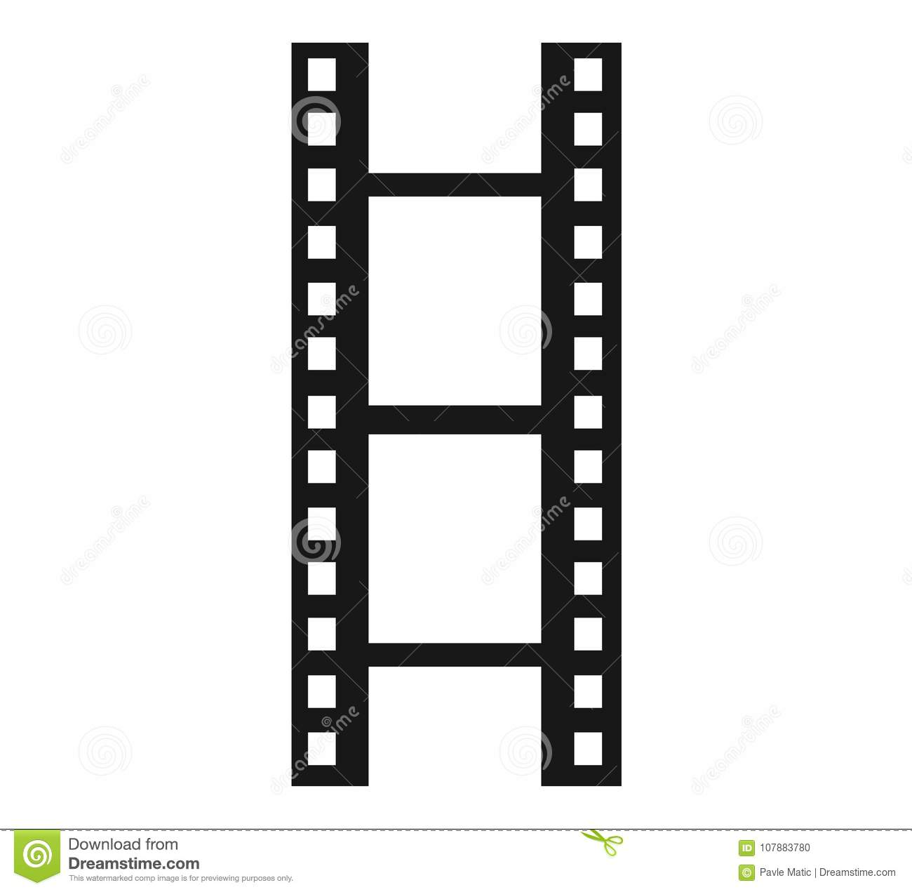 hight resolution of a simple clipart of a film reel or film strip done in a minimalist style