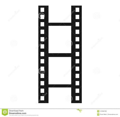 small resolution of a simple clipart of a film reel or film strip done in a minimalist style