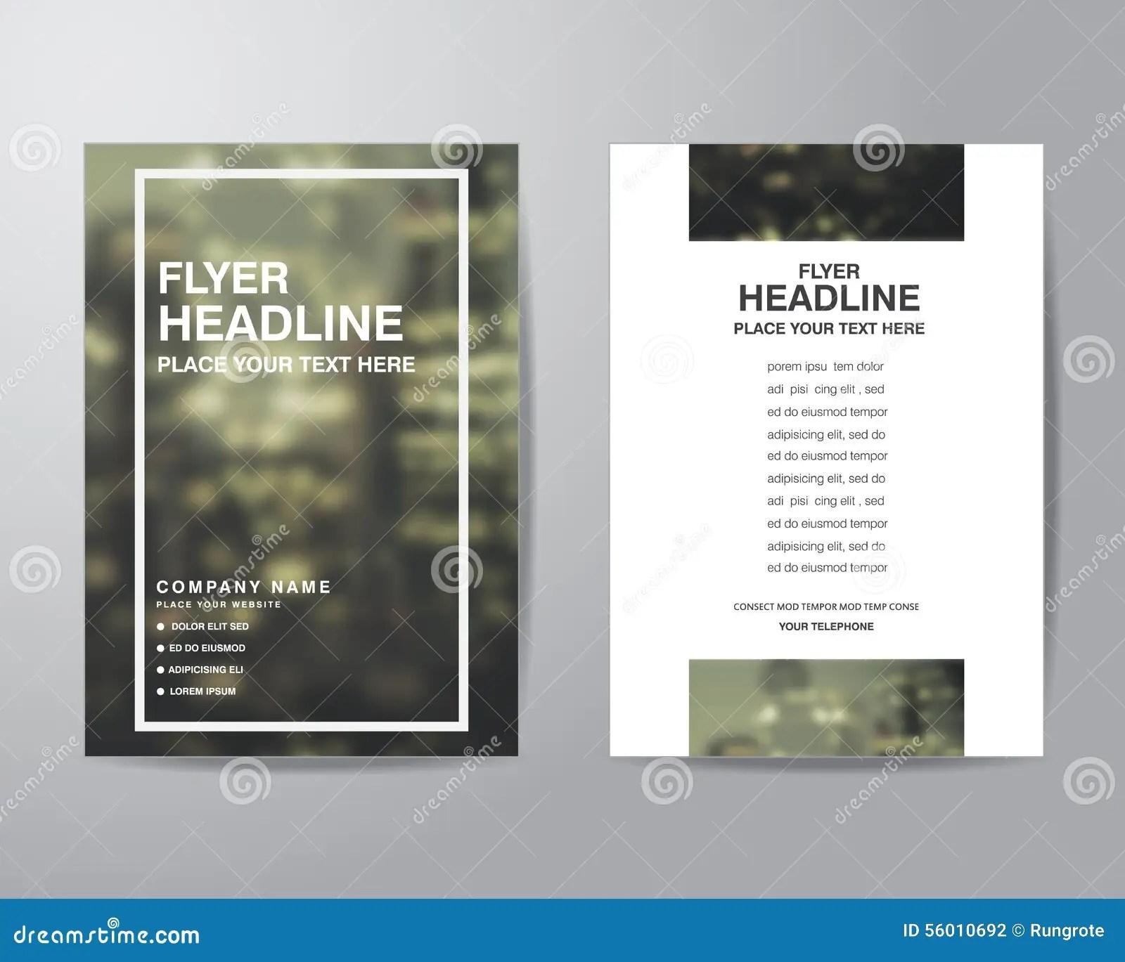 Simple Blur Background Brochure Flyer Design Layout