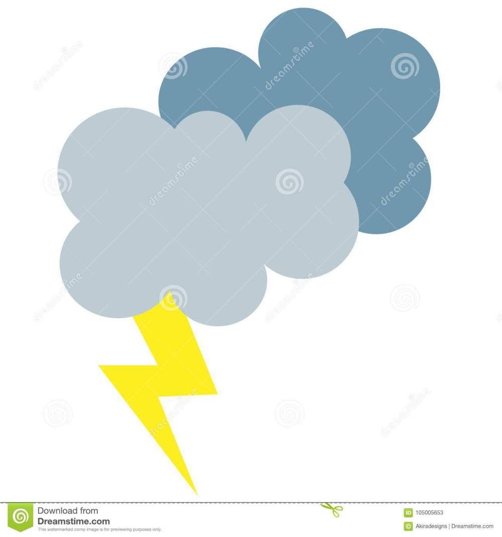 medium resolution of simple cartoon illustration of storm lightning weather forecast simple symbol or clipart