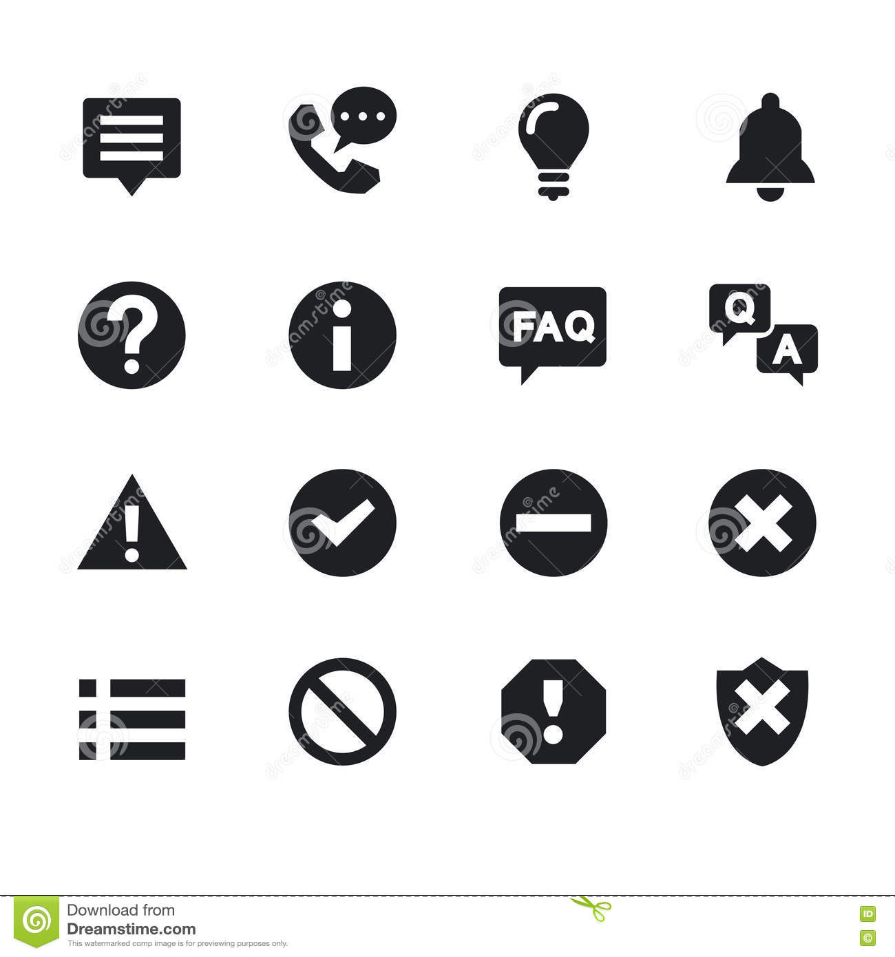 Simple Computer Icons Set. Universal To Use For Web And
