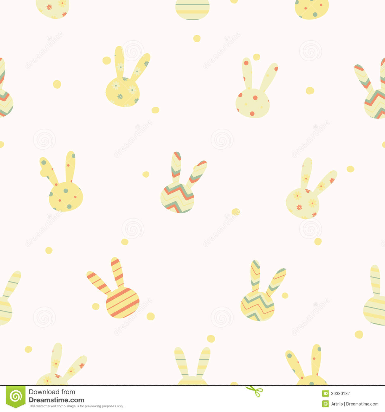 Cute Pastel Wallpaper For Pc Simple Cute Easter Pattern With Rabbits Stock Vector