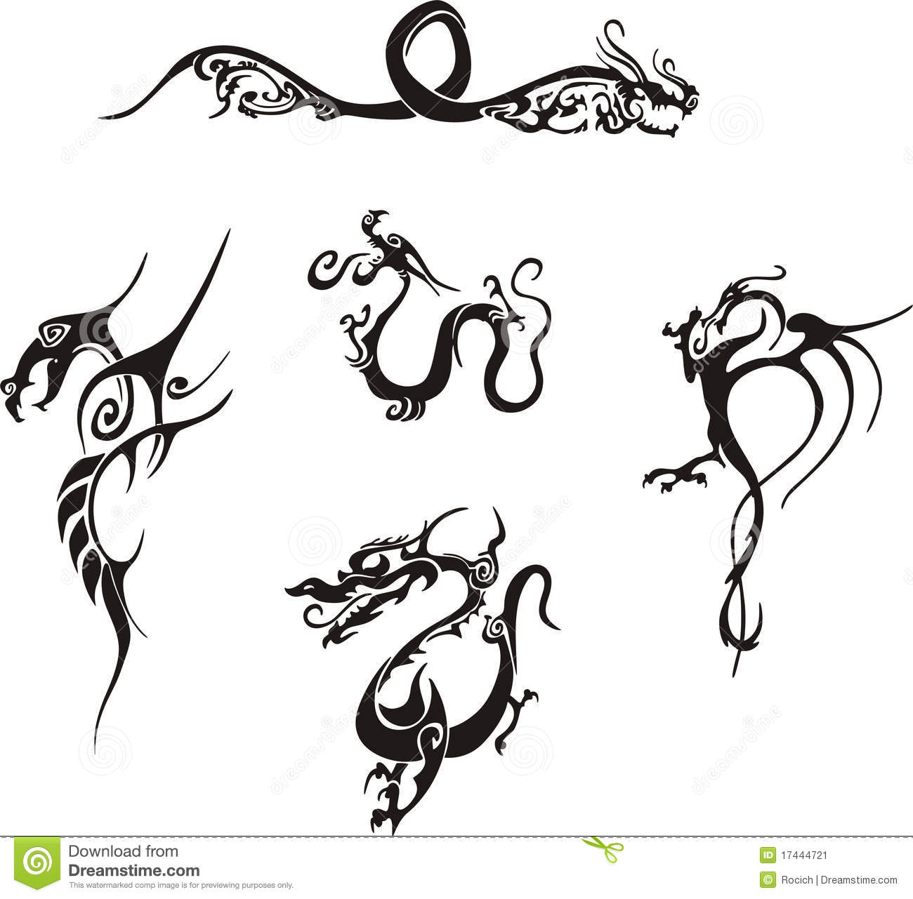 Simple Dragon Tattoos For Women