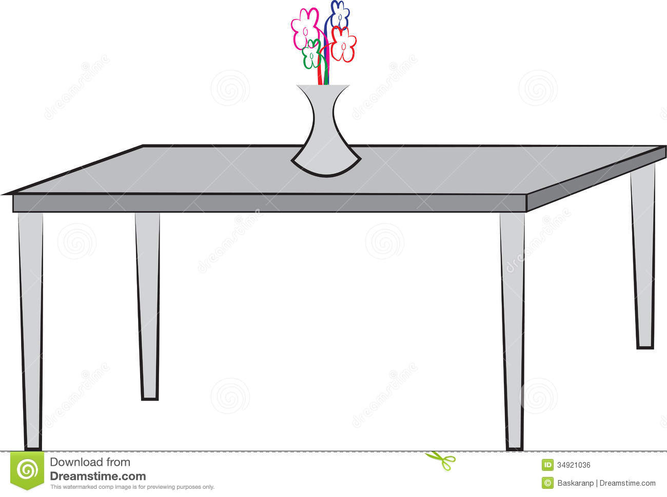 Simple drawing of table stock vector Illustration of graphic  34921036