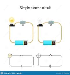 simple electric circuit electrical network and lighting lamp [ 1600 x 1689 Pixel ]