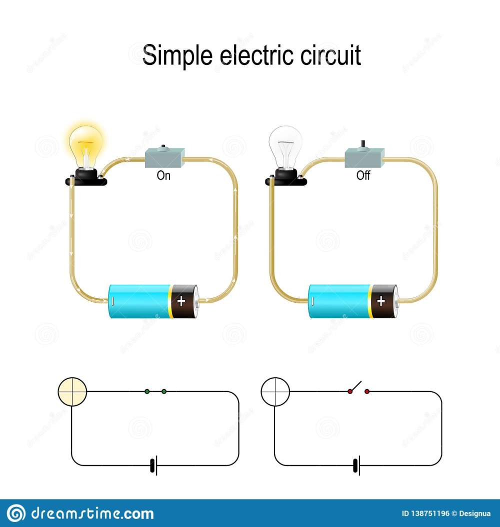 medium resolution of simple electric circuit electrical network and lighting lamp