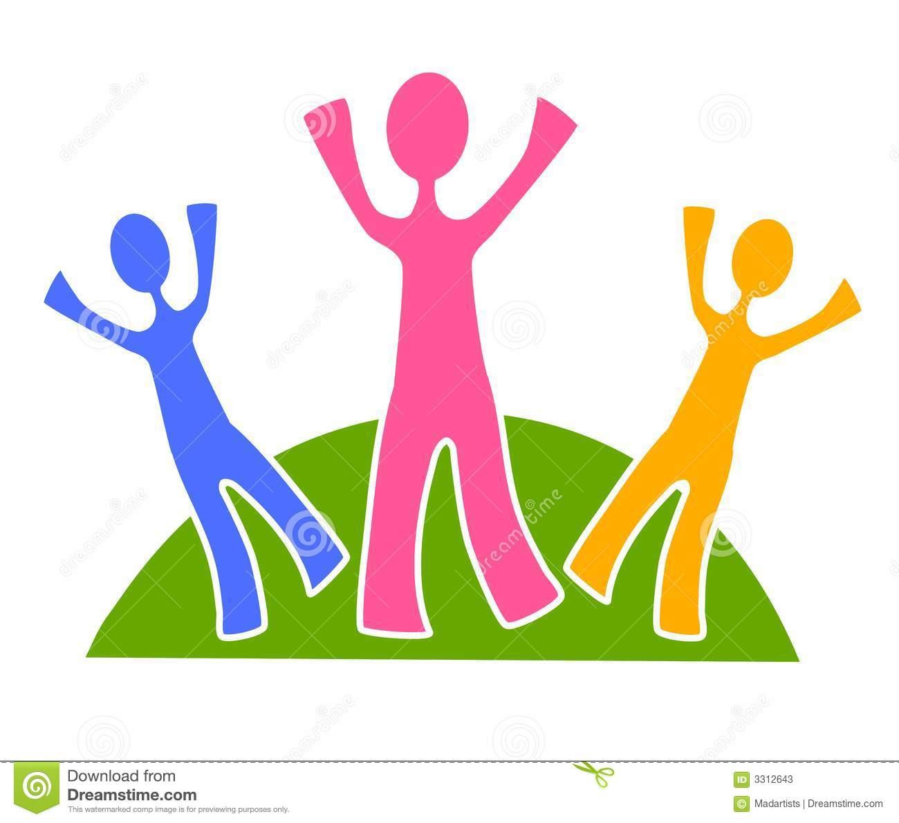hight resolution of simple family group clip art 2 stock illustration