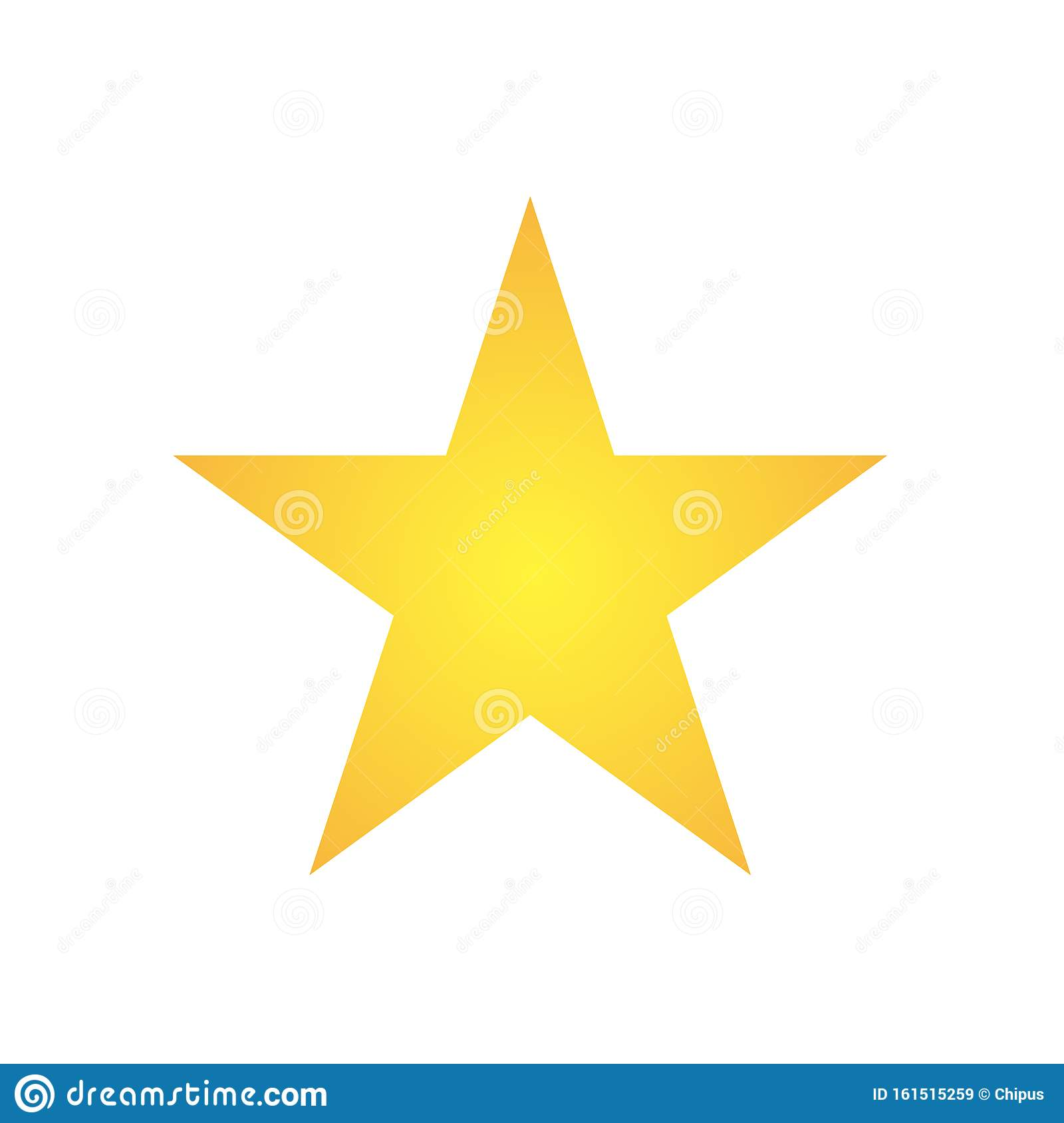 Simple Five Corners Star Yellow Golden Color Star Shape