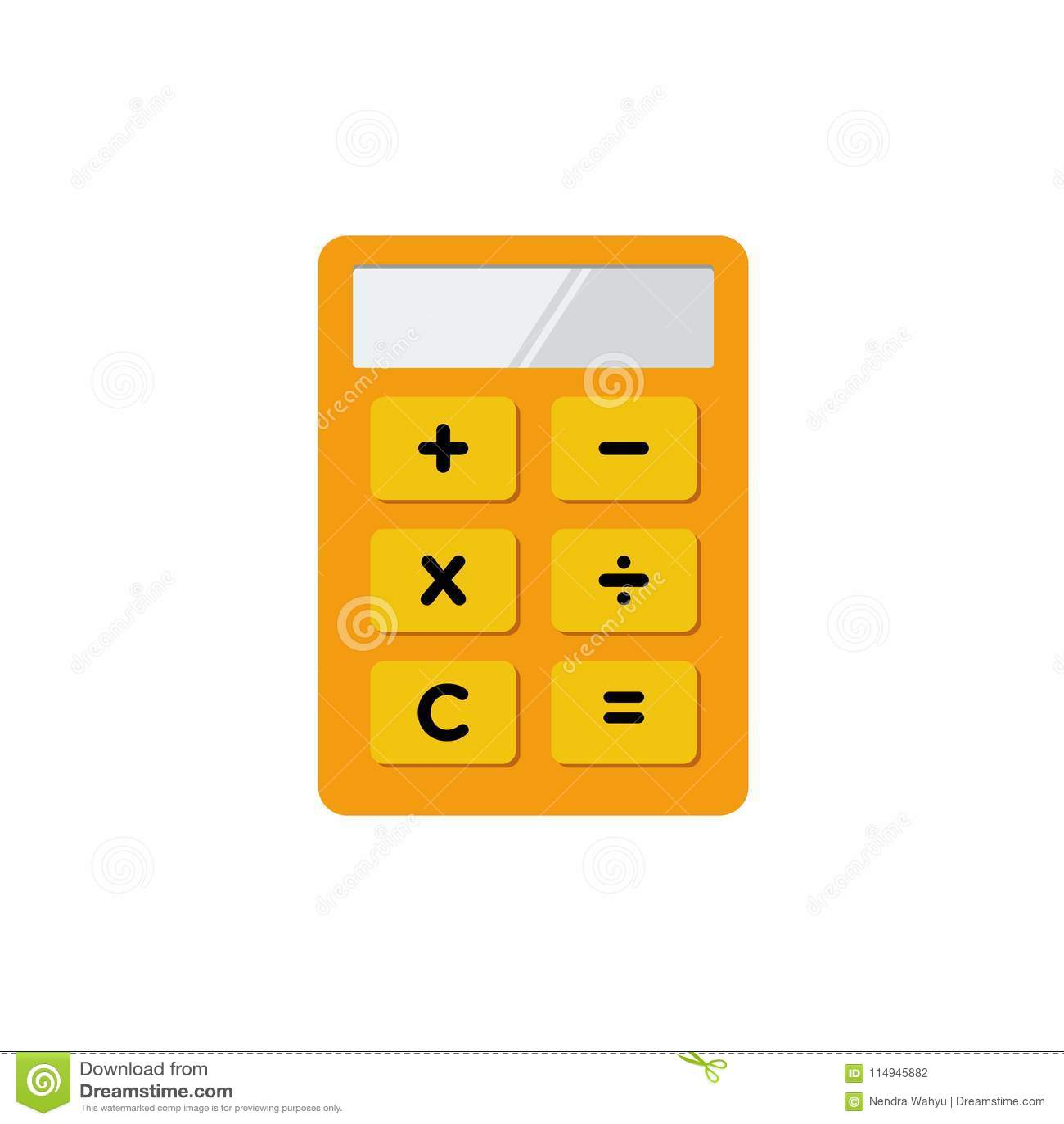 simple flat minimalist calculator