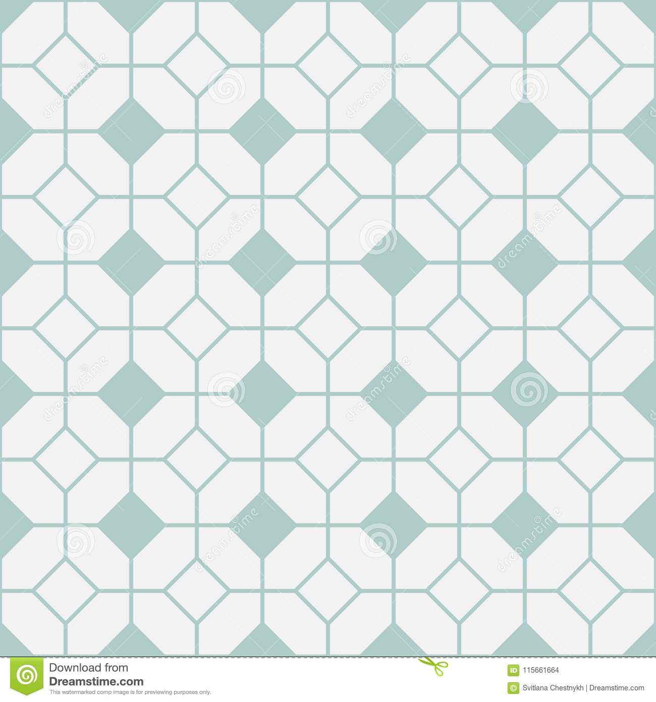 https www dreamstime com simple floor tile pattern abstract geometric seamless background portuguese tiles vector illustration teal grey diamond shapes image115661664