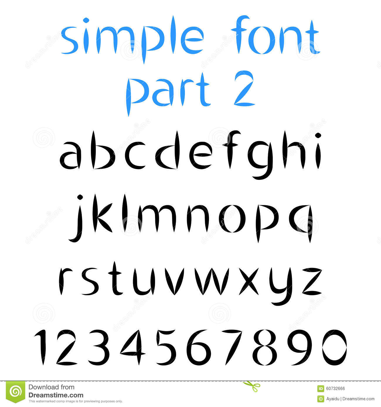 Simple Font, The Second Part. Lowercase Letters And