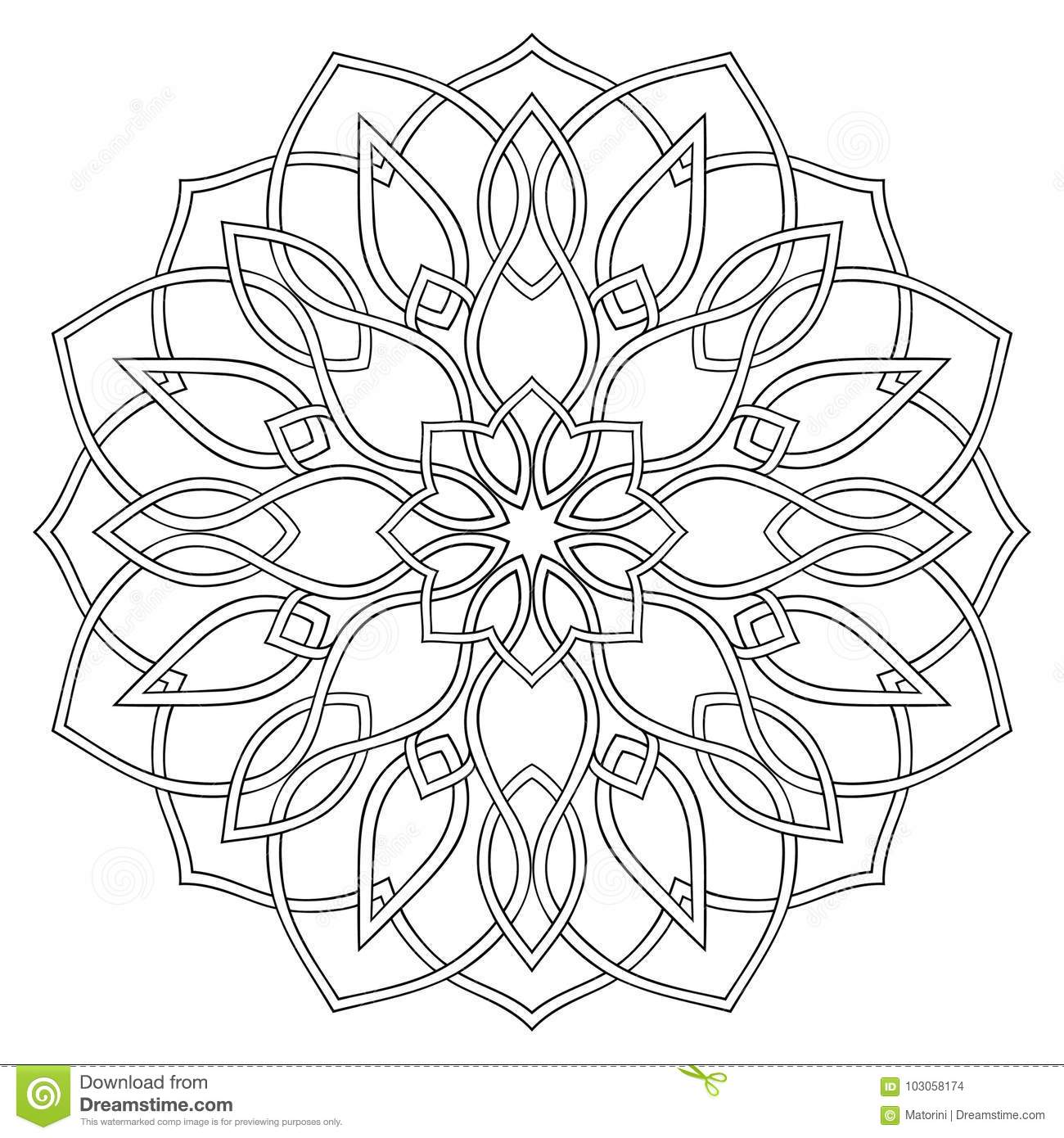 Simple geometric mandala. stock vector. Illustration of