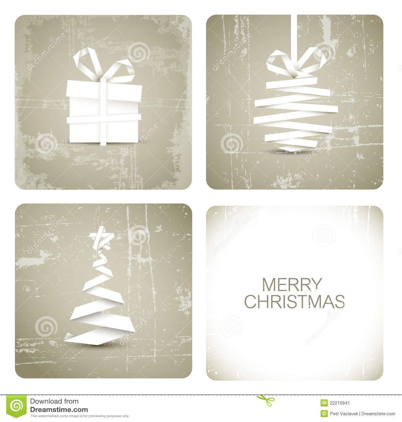 Simple Grunge Christmas Card Stock Image Image 22210941