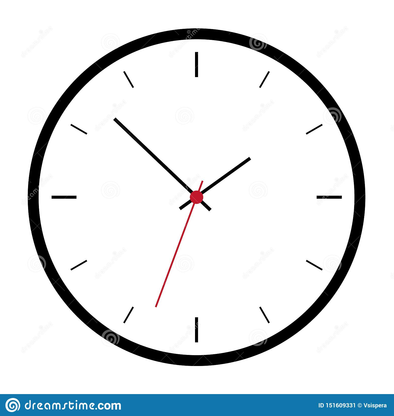 Simple Illustration Of Black Clock Face Without Numbers