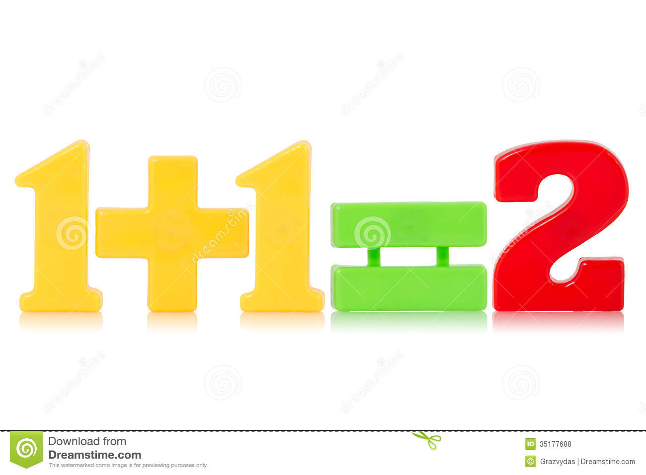 Simple Math Equation Stock Photo Image Of Magnets
