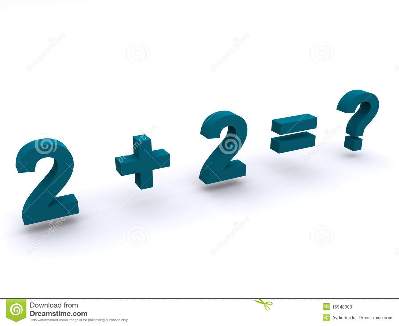 Simple Maths Addition Sum Royalty Free Stock Photos