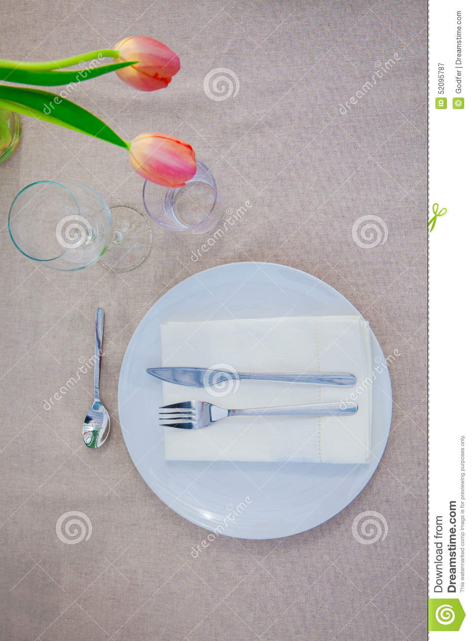 hight resolution of simple meal table setting