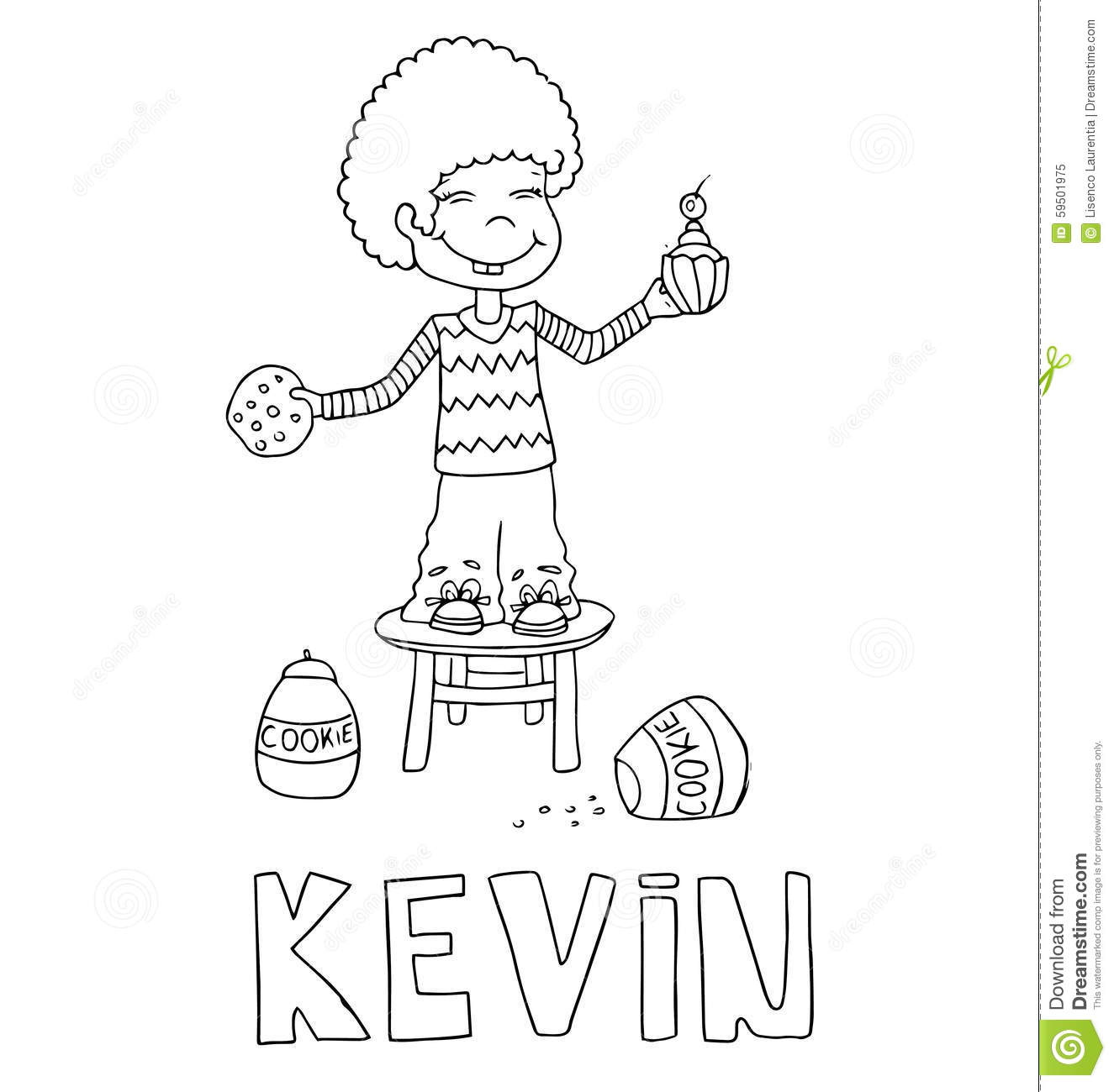 The Simple Outline Drawing For Coloring Of Children