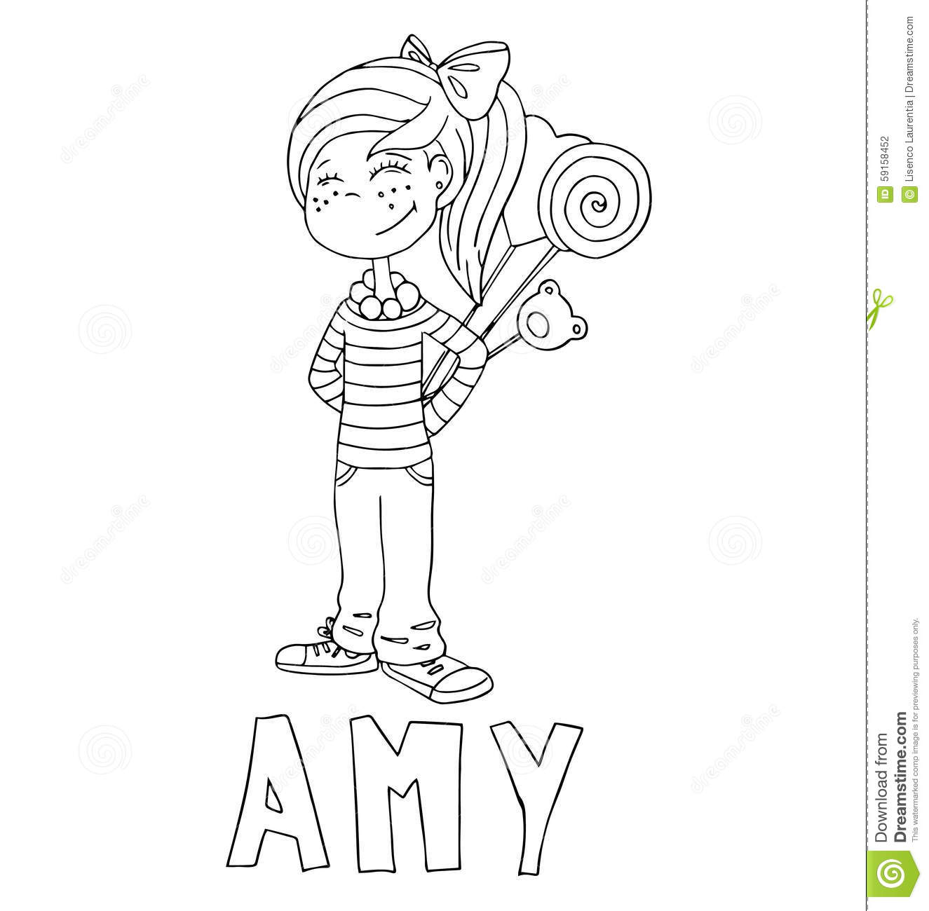The Simple Outline Drawing For Coloring With The Image Of