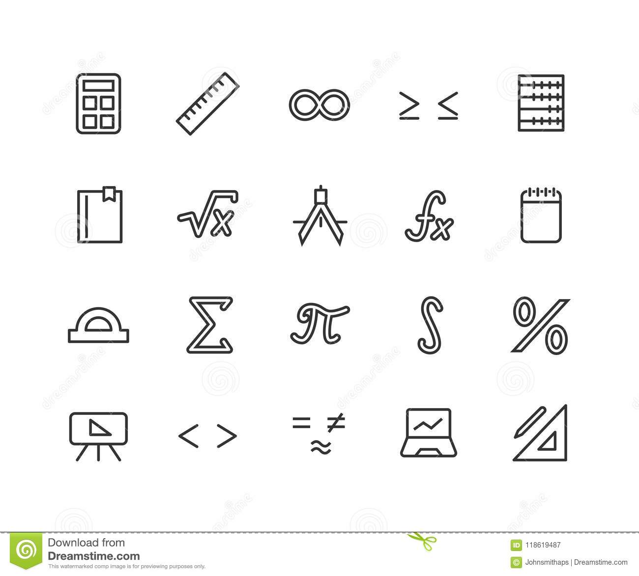 Math Function Stock Illustrations