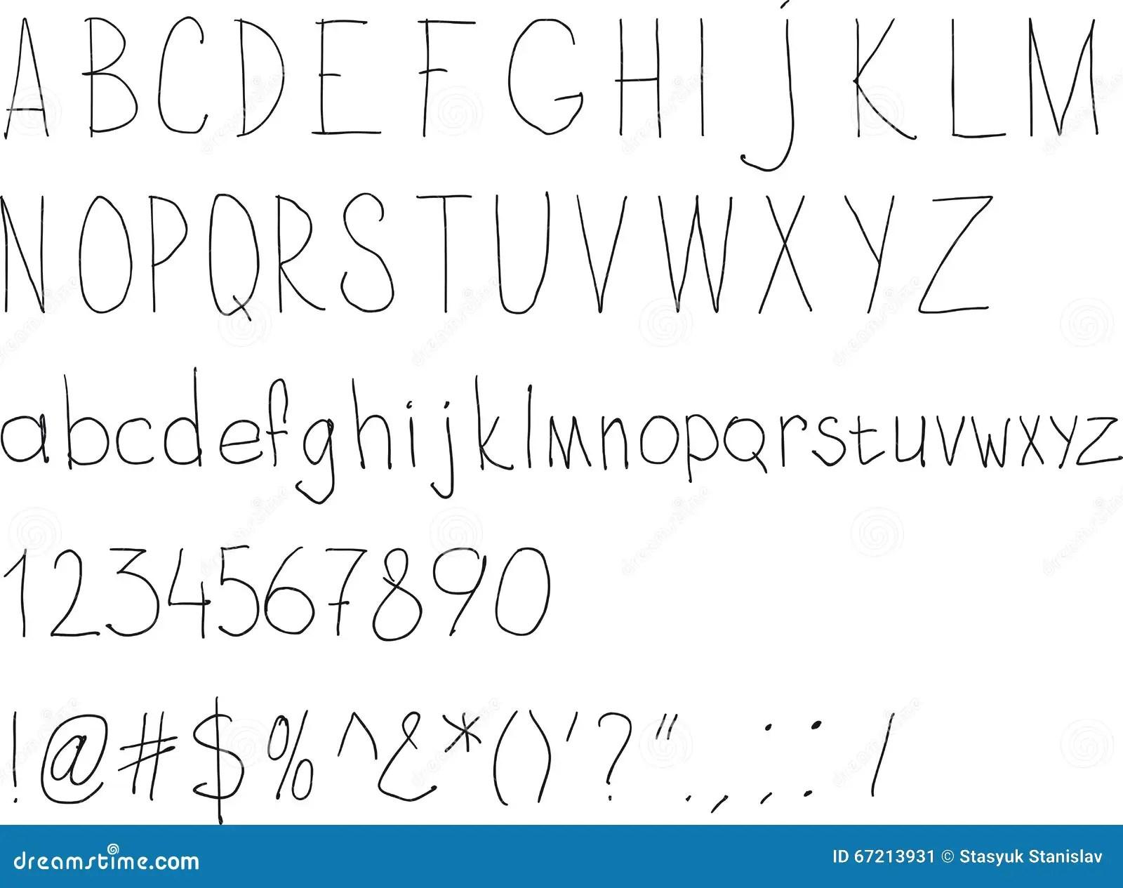 Simple Sloppy Handwriting Stock Illustrations 2 Simple Sloppy Handwriting Stock Illustrations