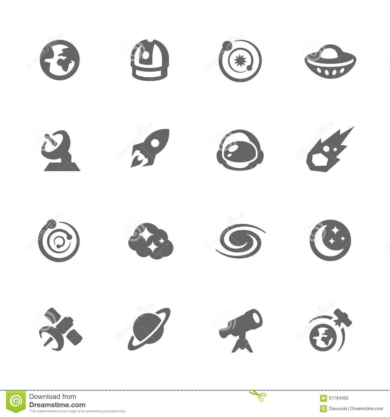 Simple Space Icons Stock Vector Image Of Rocket Icons