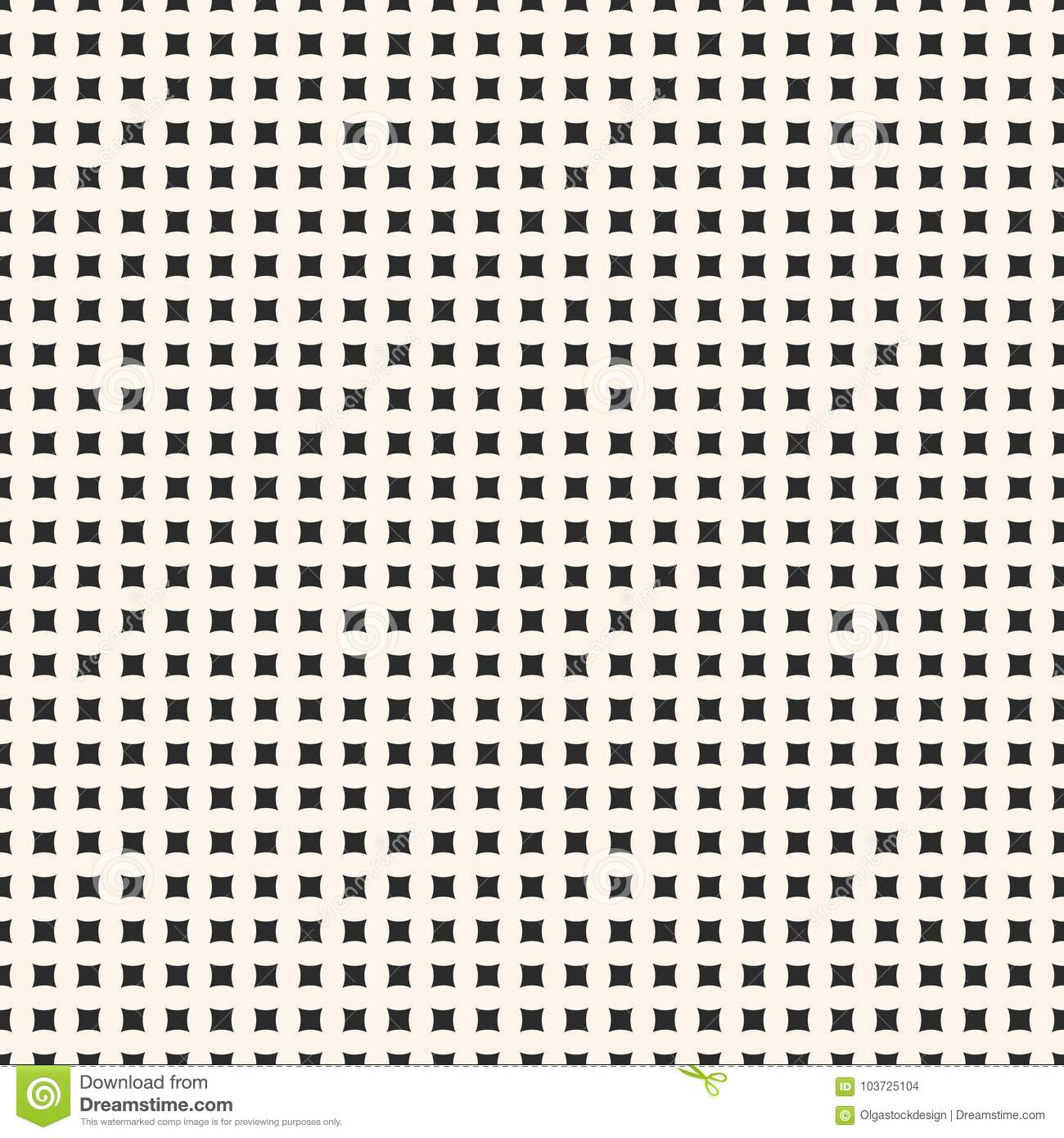 Simple Vector Geometric Seamless Pattern With Tiny Square