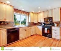 Simple Warm Colors Kitchen Room Stock Image - Image: 37065641