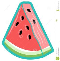 watermelon triangle simple icon vector outline vibe summer