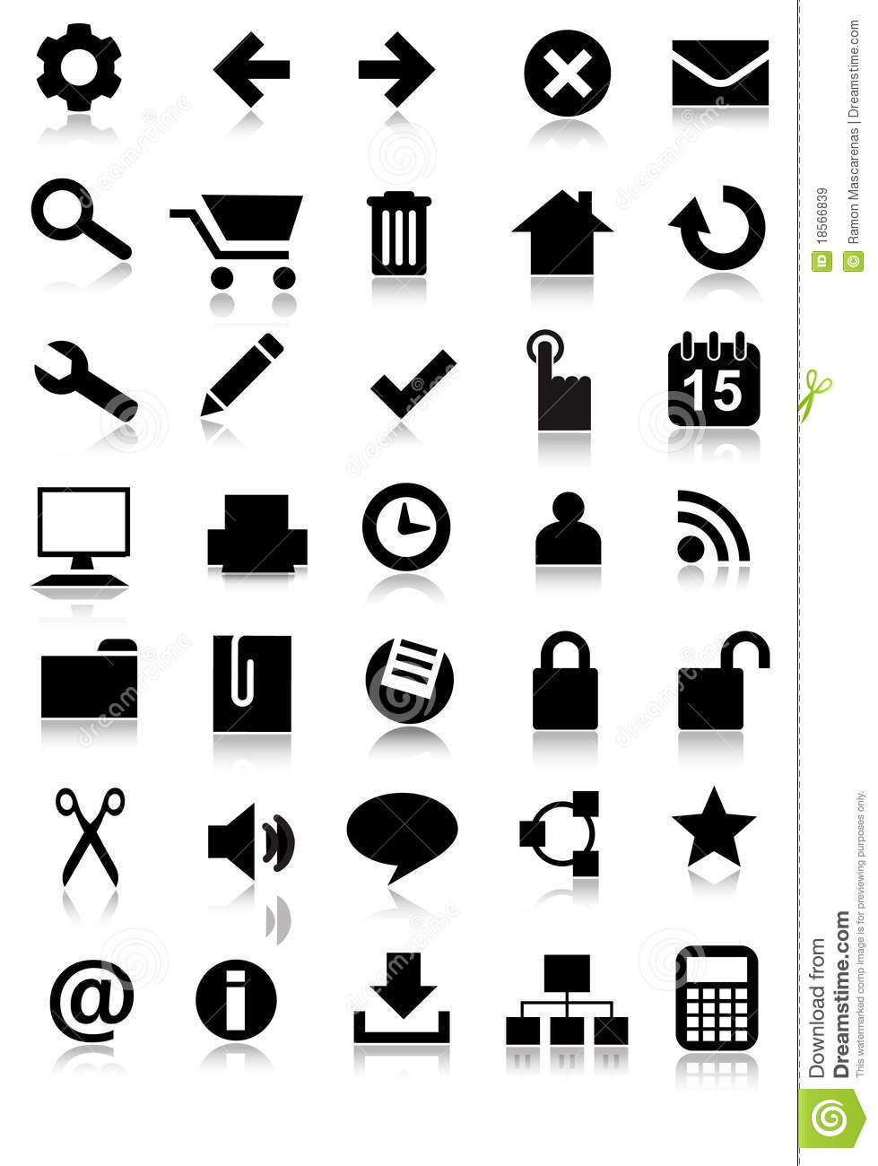 Simple Web Icon Set Application Royalty Free Stock Images