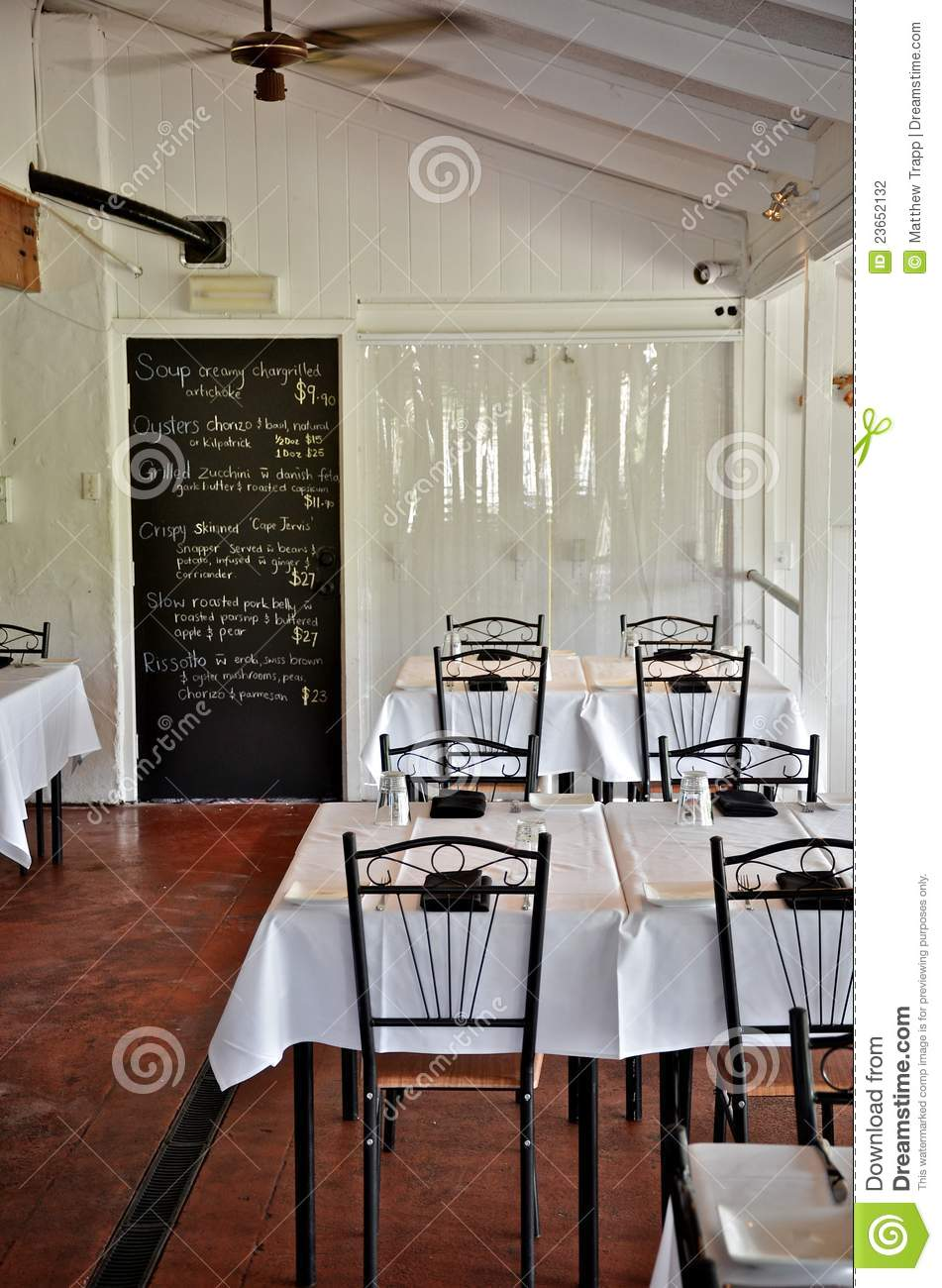 Simple White Restaurant Interior Stock Photography  Image 23652132