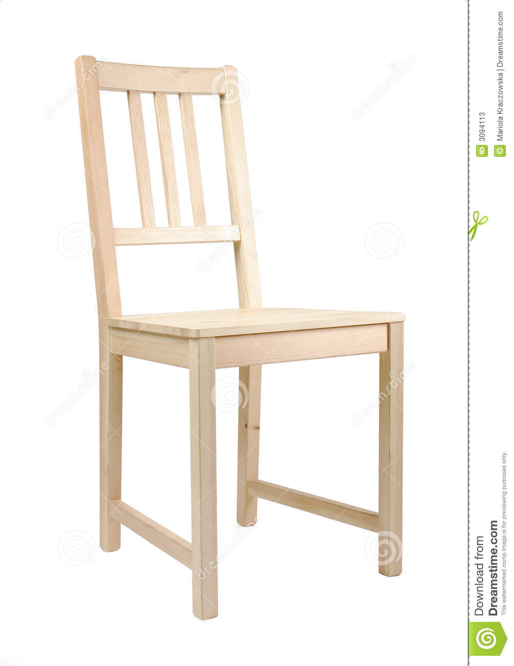 Simple wooden chair stock image. Image of design, decor