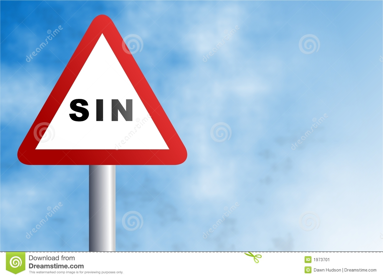 Sin Sign Stock Image  Image 1973701