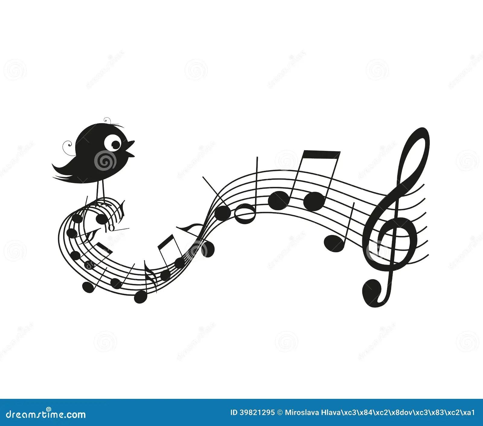 Singing bird stock vector. Illustration of animal, elegant